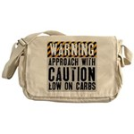 Warning - low on carbs Messenger Bag