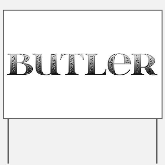 Butler Carved Metal Yard Sign