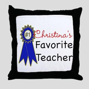 Favorite Teacher Throw Pillow