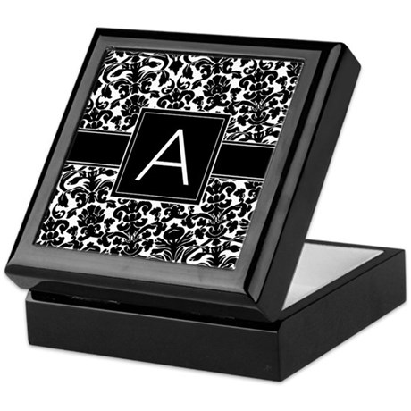 Monogram Letter A Keepsake Box