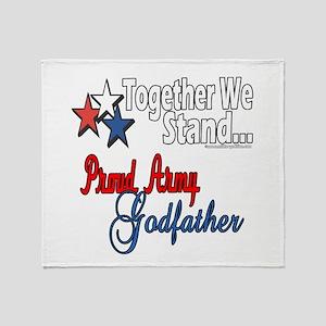 Army Godfather Throw Blanket