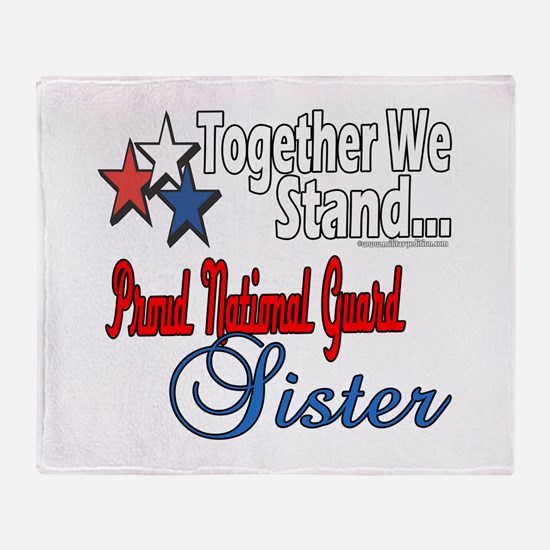 National Guard Sister Throw Blanket