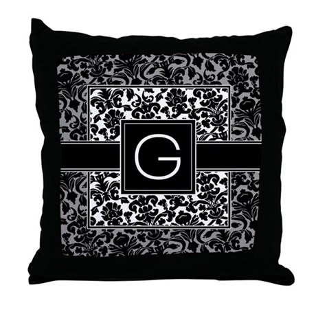 Monogram Letter G Gifts Throw Pillow
