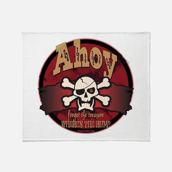 Ahoy Matey Throw Blanket