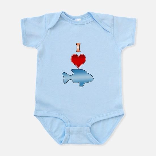 I Heart fish Infant Bodysuit
