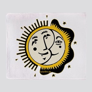 Sun Moon and Stars Yin Yang Throw Blanket