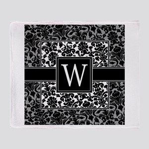 Monogram Letter W Gifts Throw Blanket