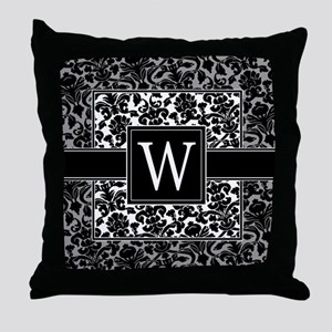 Monogram Letter W Gifts Throw Pillow