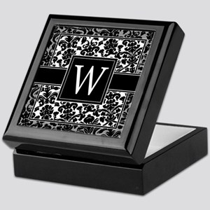 Monogram Letter W Gifts Keepsake Box