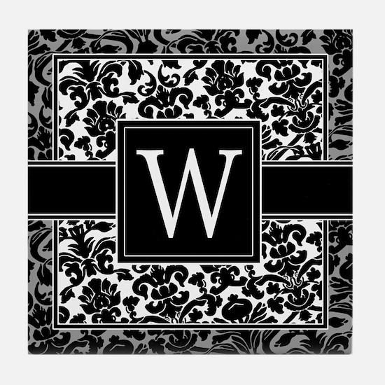 Monogram Letter W Gifts Tile Coaster