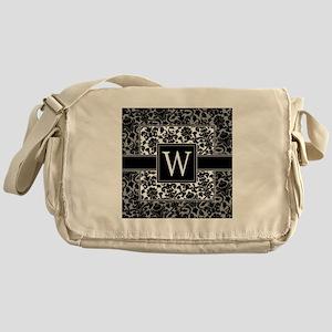 Monogram Letter W Gifts Messenger Bag