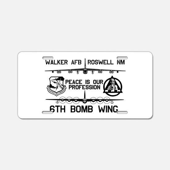 6th Bomb Wing Aluminum License Plate