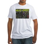 Ninjas vs. Zombies Fitted T-Shirt