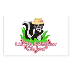 Little Stinker Chloe Sticker (Rectangle 10 pk)