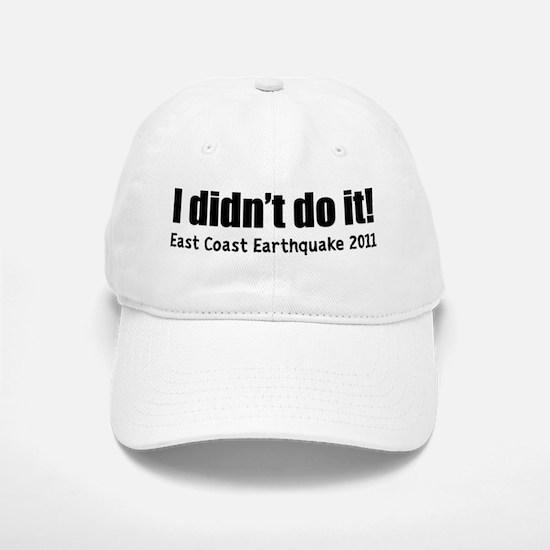 East Coast Earthquake Baseball Baseball Cap
