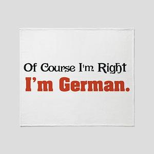 I'm German Throw Blanket