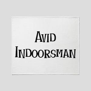 Avid Indoorsman Throw Blanket
