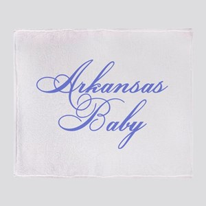 Arkansas Baby (blue) Throw Blanket