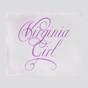 Virginia Girl Throw Blanket
