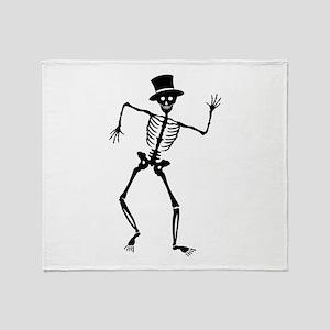 Dancing Skeleton Throw Blanket
