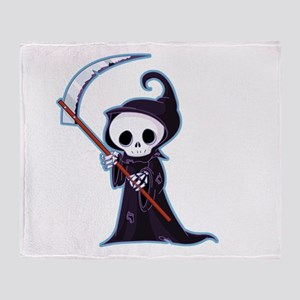 Sweet Little Death Throw Blanket