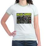 Ninjas vs. Zombies Jr. Ringer T-Shirt