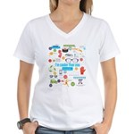 I'm Cooler Than You Because.. Women's V-Neck T-Shi