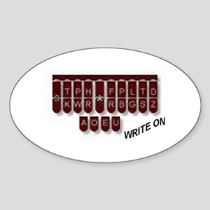 Write On! Oval Sticker