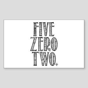 Five Zero Two Sticker (Rectangle)