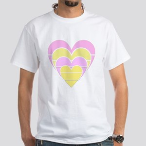 Heart White T-Shirt
