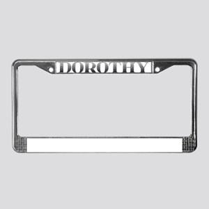 Dorothy Carved Metal License Plate Frame