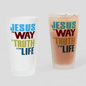 Jesus Way Truth Life Drinking Glass