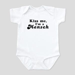 Kiss Me I'm a Mensch Infant Creeper