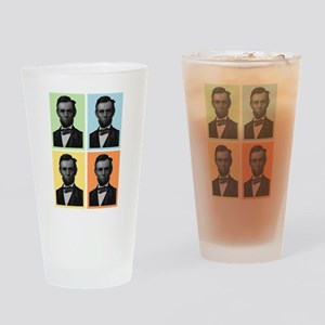 4 Score Lincolns Drinking Glass