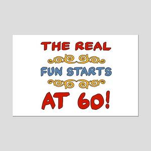 Real Fun 60th Birthday Mini Poster Print