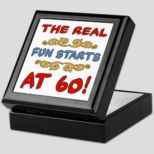 Real Fun 60th Birthday Keepsake Box
