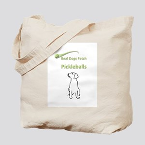 Real Dogs Fetch Pickleballs Tote Bag