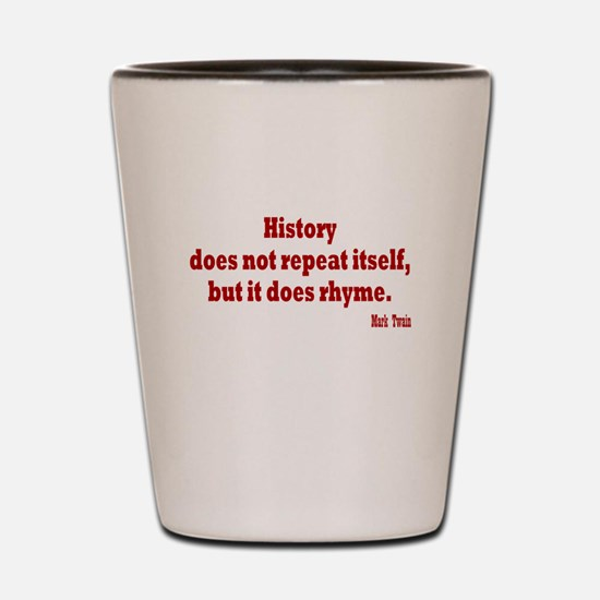Mark Twain History Shot Glass