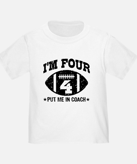 Four Year Old Football T