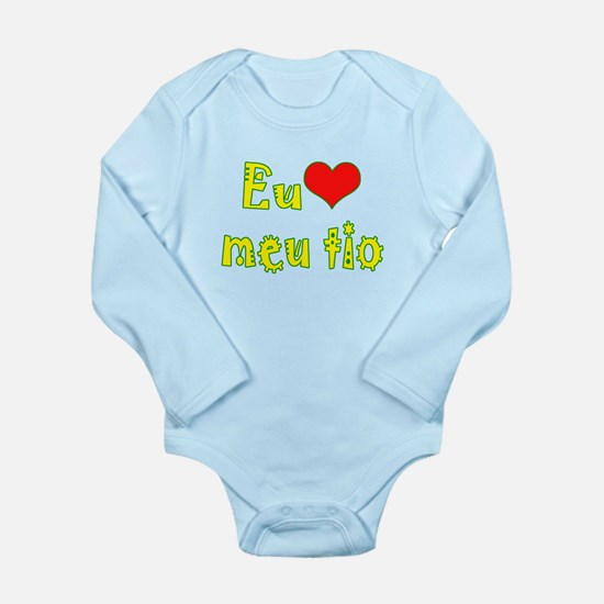 I Love Uncle (Port/Brasil) Long Sleeve Infant Body
