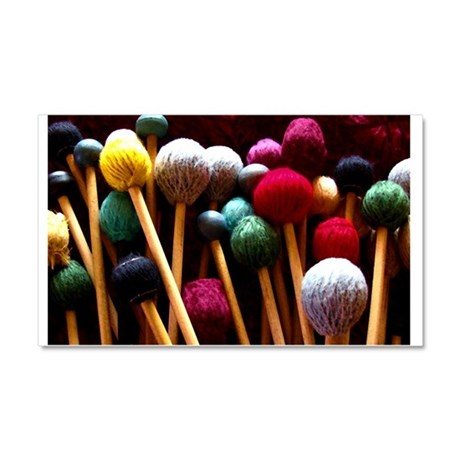 Mallets Car Magnet 20 x 12