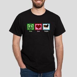 Peace Love Beagles Dark T-Shirt