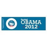 Re-elect Obama 2012 Sticker (Bumper 10 pk)