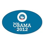 Re-elect Obama 2012 Sticker (Oval 10 pk)