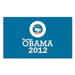 Re-elect Obama 2012 Sticker (Rectangle 10 pk)