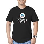 Re-elect Obama 2012 Men's Fitted T-Shirt (dark)
