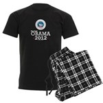 Re-elect Obama 2012 Men's Dark Pajamas