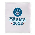 Re-elect Obama 2012 Throw Blanket