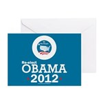 Re-elect Obama 2012 Greeting Cards (Pk of 20)