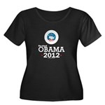 Re-elect Obama 2012 Women's Plus Size Scoop Neck D